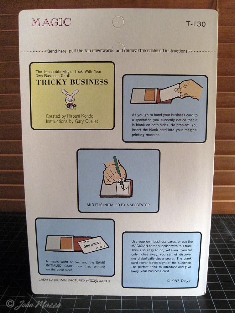 T 130 Tricky Business Tenyo Magic Forum
